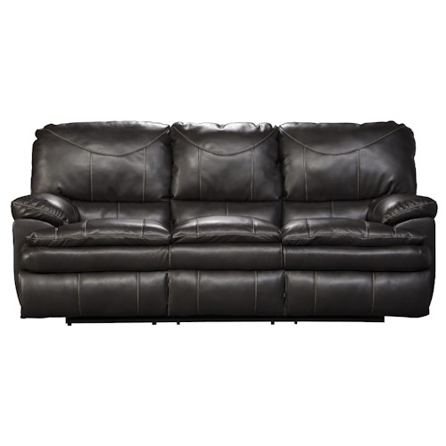 Catnapper Perez Reclining Sofa with Pillow Topped Cushions