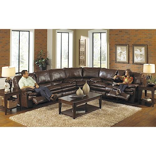 Catnapper Perez Power Reclining Sectional Sofa