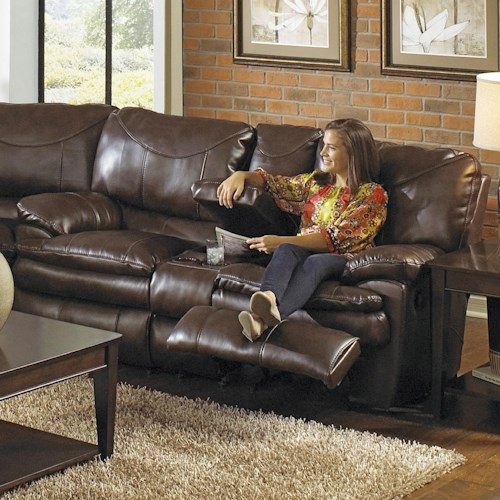 Catnapper Perez Reclining Console Loveseat with 2 Seats