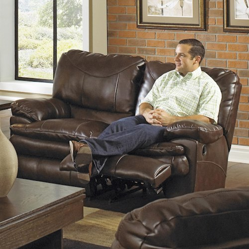 Catnapper Perez Power Reclining Loveseat with Pillow Topped Cushions