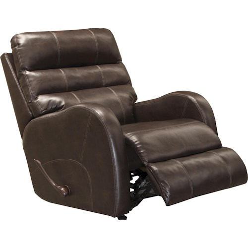 Catnapper Searcy Casual Rocker Recliner in Faux Leather