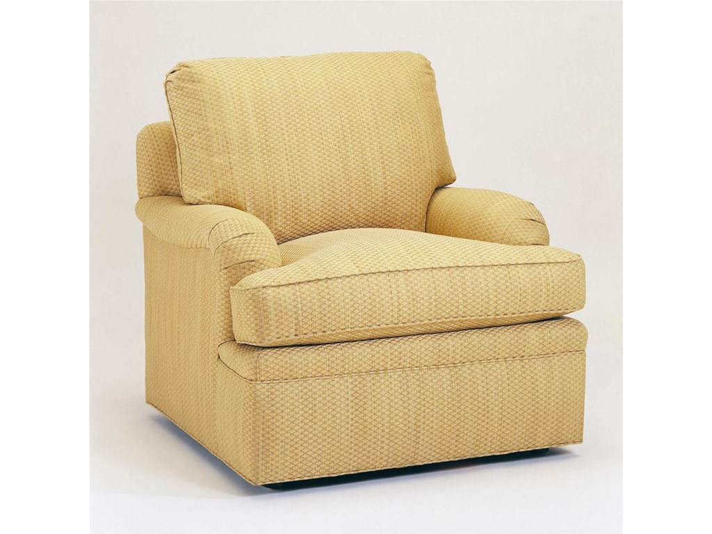 Shown with T-Cushion English Arm, Boxed Welt Cushions, and Upholstered Base