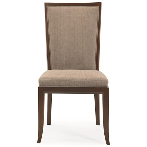 Century 3377 Luna Park Side Chair with Diamond Lattice Back