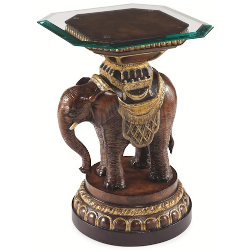 Century Archive Home and Monarch Mahut's Elephant Side Table w/ Glass Top