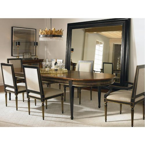 Century Barrington Table and Chair Set with 2 Arm Chairs and 3 Side Chairs