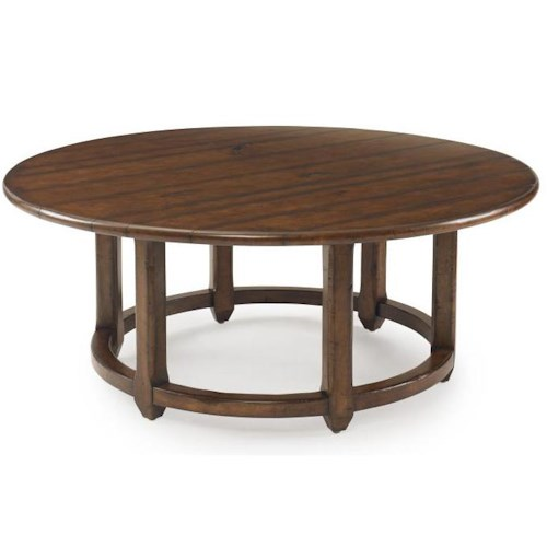 Century Bob Timberlake  Round Grist Mill Cocktail Table