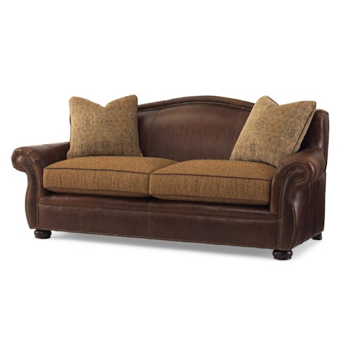Century Bob Timberlake Dek's Stationary Sofa with Nailhead Trim