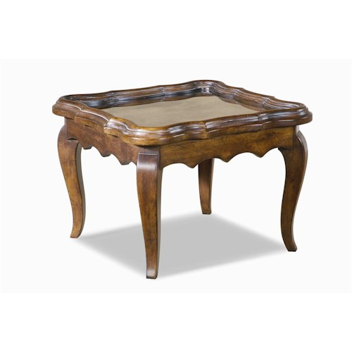 Century Bordeaux  Martini Table with Mirror Top