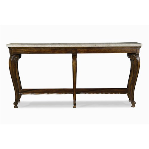 Century Bordeaux  Console with Marble Top
