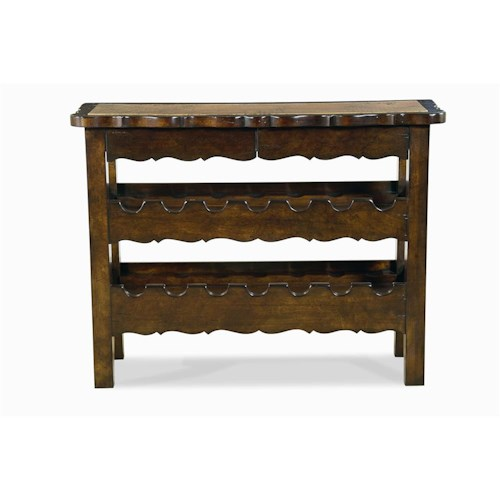 Century Bordeaux  Wine Console with Hammered Copper Top