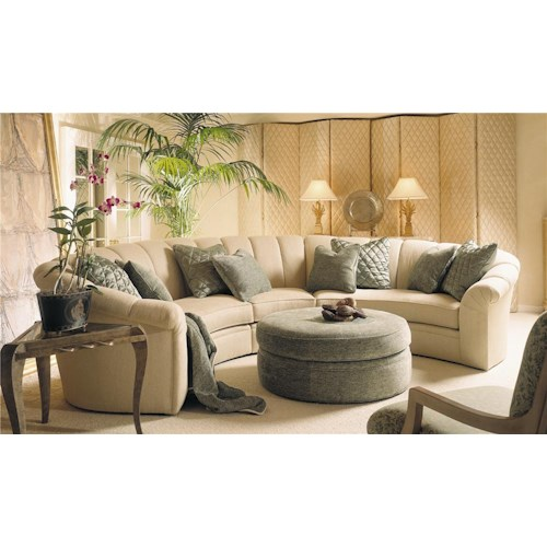 Century C7-9500 Series LAF, Wedge, and RAF Sectional Sofa