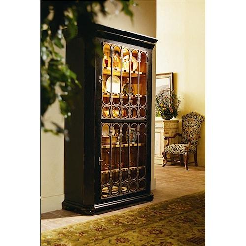 Century Caperana Cabinet with Metal Doors