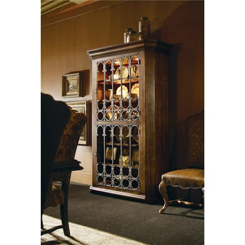 Century Caperana Cabinet with Metal Doors