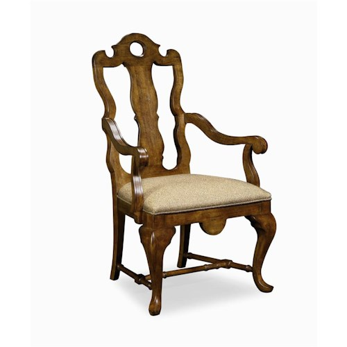 Century Caperana Splat Back Arm Chair