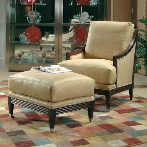 Century Century Chair Casual Century Metro Chair and Ottoman Set with Contemporary Coastal Theme