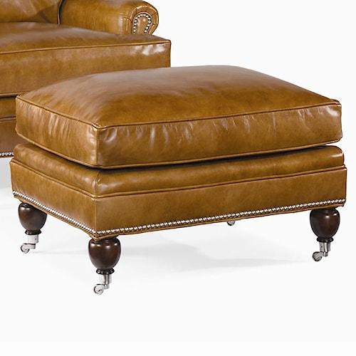 Century Century Leather Customizable Essex Ottoman