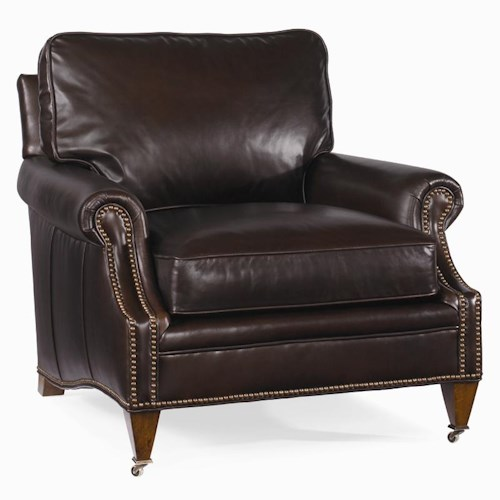 Century Century Leather Customizable Essex Chair
