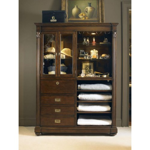 Century Chelsea Club Markham Bar Cabinet with Wine Racks