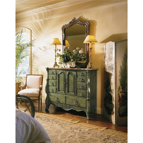 Century Coeur De France Margaux Master Chest with Marble Top