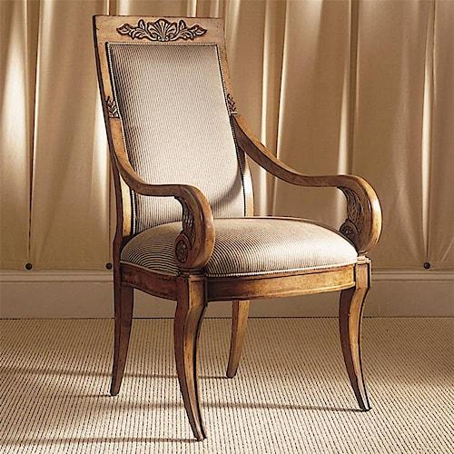 Century Consulate Thronos Dining Arm Chair