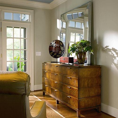 Century Omni Dresser and Metal Frame Mirror