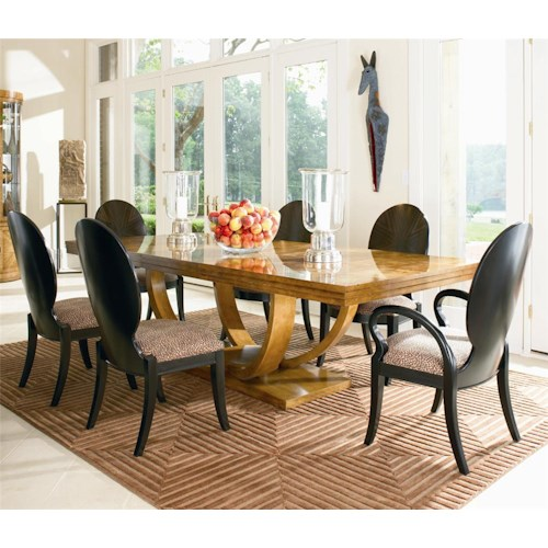 Century Omni Dining Table, Arm Chair and Side Chair Set