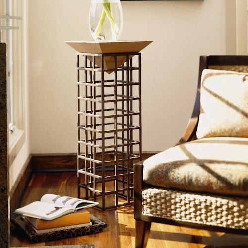 Century Century Classics Metal Plinth Stand with Leather Platform