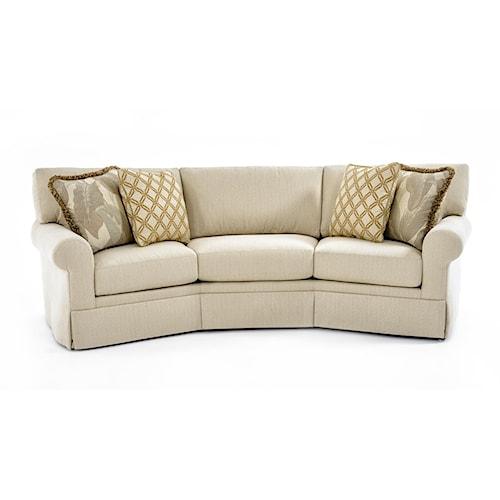 Century Cornerstone  <b>Customizable</b> Conversation Sofa Kick Pleat Skirt and Sock Arms