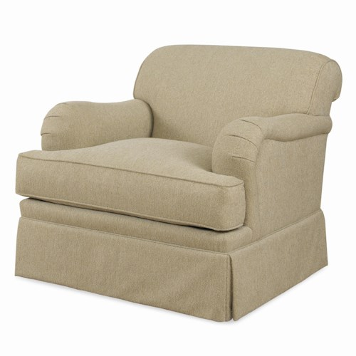 Century Cornerstone  <b>Customizable</b> Upholstered Chair with English Arms and Kick Pleat Skirt