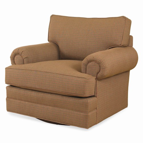 Century Cornerstone  <b>Customizable</b> Swivel Chair with Loose Box Back