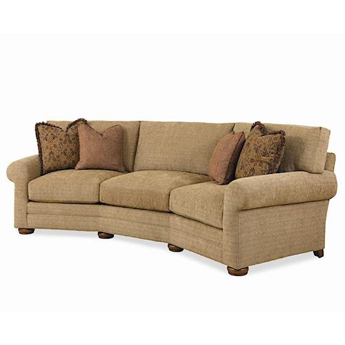 Century Cornerstone  <b>Customizable</b> Conversation Sofa with Sock Arms and Bun Feet