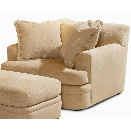 Century Elegance  Casual Chair with 3 Pillows