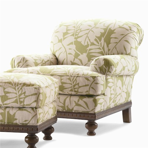 Century Elegance  Upholstered Chair with Rolled Arms