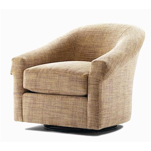 Century Elegance  Upholstered Swivel Glider Chair