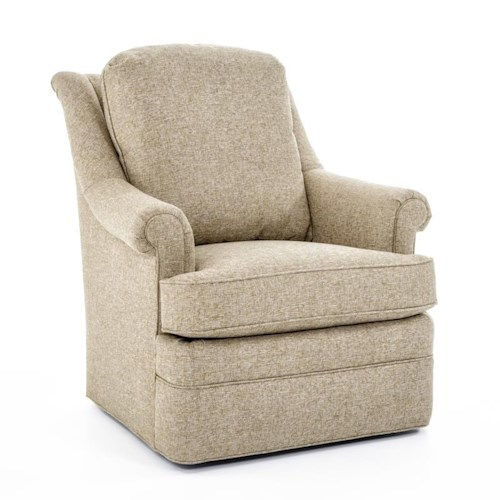 Century Elegance  Tyler Loose Cushion Swivel Chair