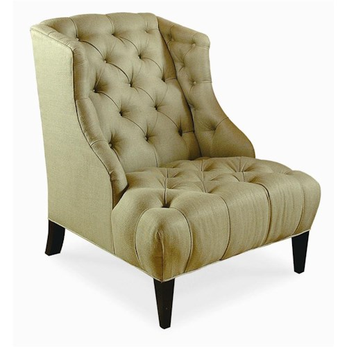 Century Elegance  Button Tufted Chair