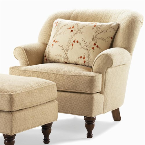 Century Elegance  Upholstered Chair with Flared Arms