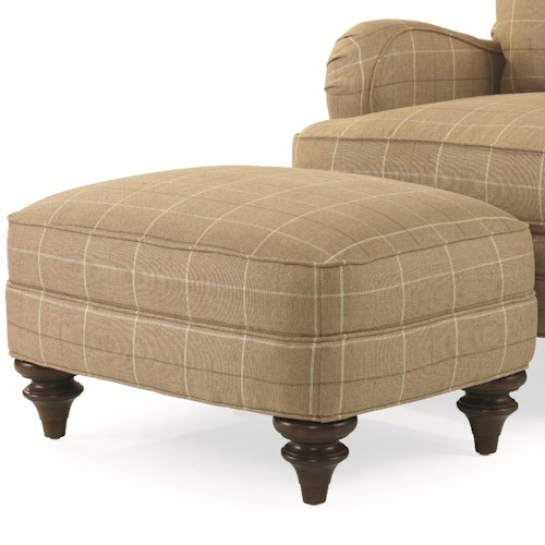 Century Elegance  Two-Tier Kent Ottoman with Exposed Wood Feet