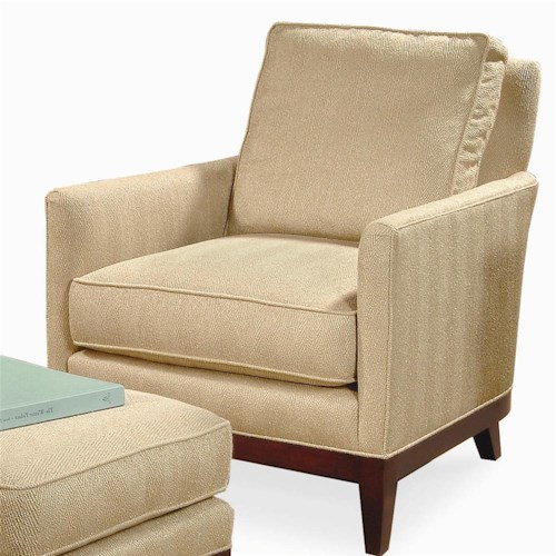 Century Elegance  Upholstered Chair with Exposed Wood Feet