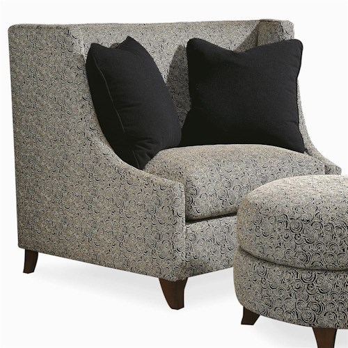 Century Elegance  Upholstered Chair with Curved Back