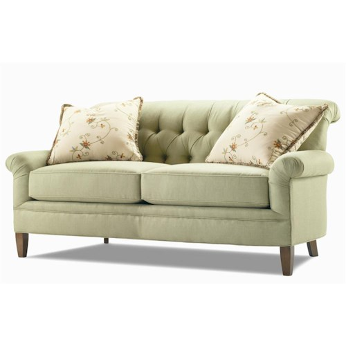 Century Elegance  Settee withTufted Back