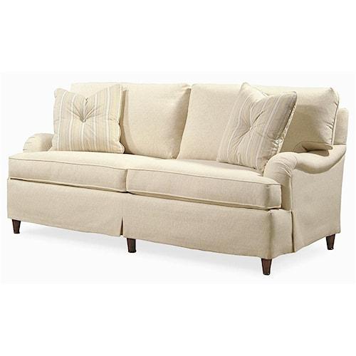 Century Elegance  Transitional Stationary Sofa