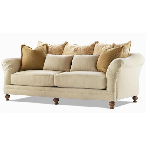 Century Elegance  Stationary Sofa with Turned Feet