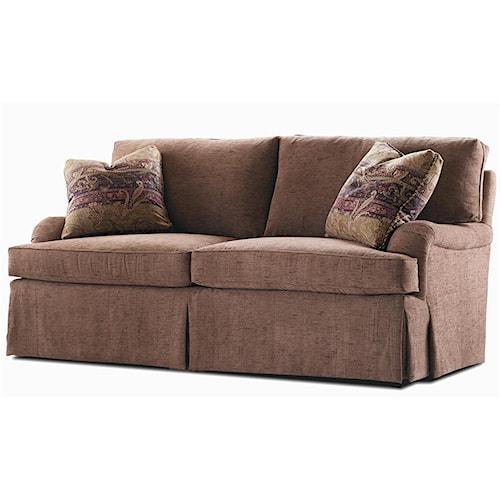 Century Elegance  Sofa with Skirted Base