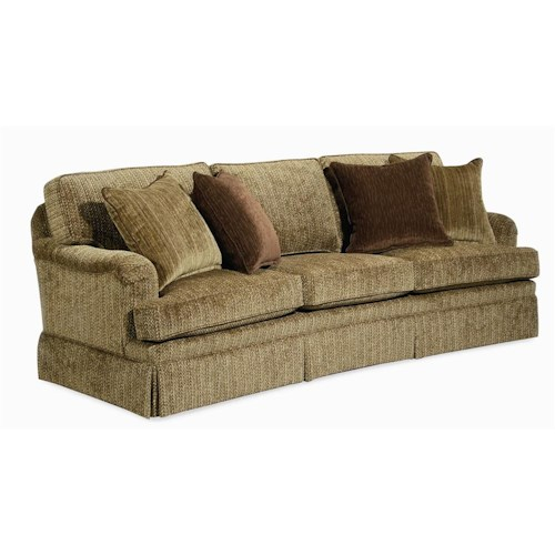 Century Elegance  Three Seat Skirted Sofa