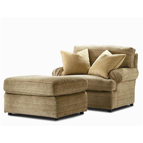 Century Elegance  Upholstered Chair & Ottoman