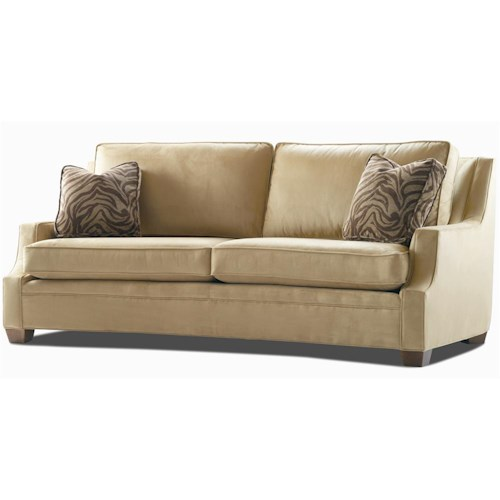 Century Elegance  Sofa with Profiled Track Arms