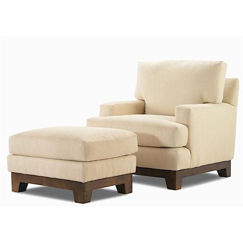 Century Elegance  Stationary Chair & Ottoman