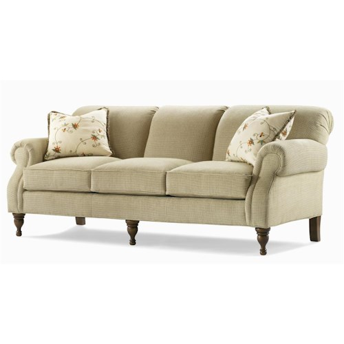 Century Elegance  Sofa with Turned Feet