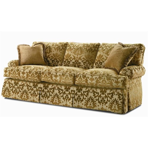 Century Elegance  Skirted Stationary Sofa
